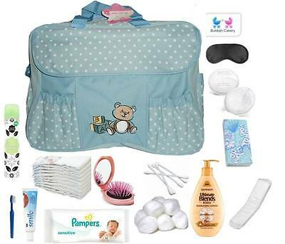 Pre Packed Essential Maternity Hospital Labour Bag Mum Baby NEXT DAY DEL AVAILAB