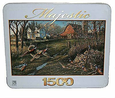 Majestic 1500 Piece Jigsaw Puzzle in Tin: 'Thanks Be Given'