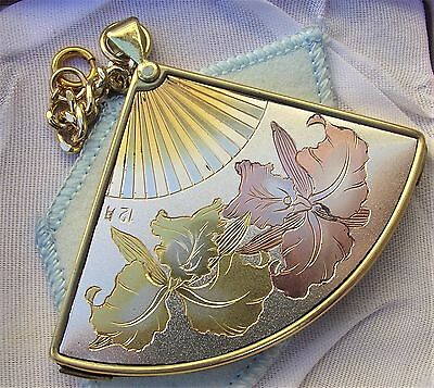 Vintage Elegance Fan Shaped Compact Mirror