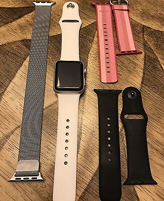 Apple Watch Series 2 38 mm White Sport Band PLUS all bands shown