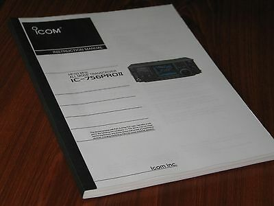 Icom IC-756PROII HF/50 MHz all mode transceiver instruction manual
