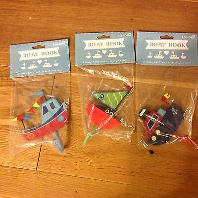 Sass And Belle Set Of 3 Lovely Boat Hooks Reduced Free Postage