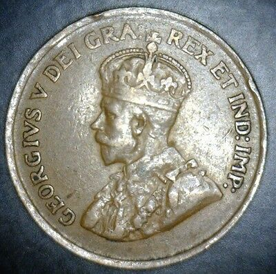 1924 Canada/Canadian Small Penny, One/1 Cent Piece (C1-22) - RARE KEY DATE