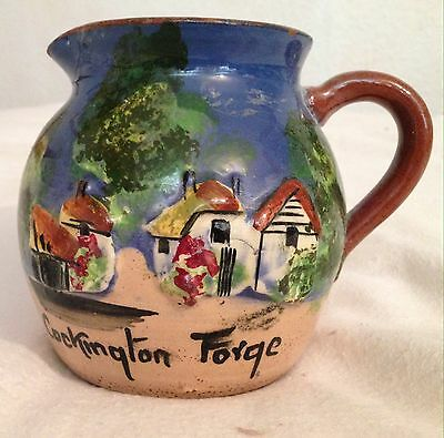Torquay Ware Motto Ware Type 'cockington Forge' Jug