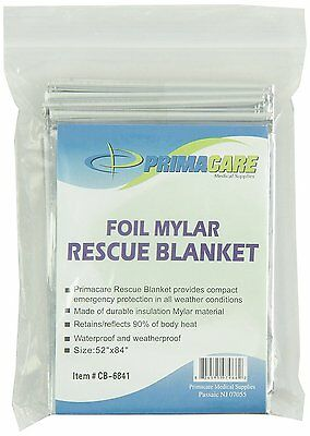10 x Mylar Foil Emergency Blanket Thermal First Aid Survival Rescue Camping
