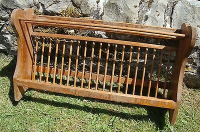 Large Vintage Solid Pine Plate Rack - Refurbishment - Farmhouse Country Kitchen