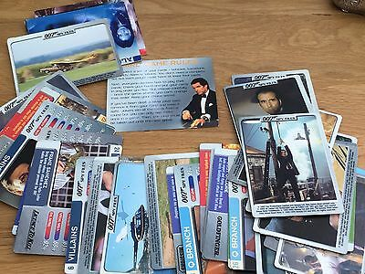 James Bond Assorted 007 Spy Files Cards Approx 45 Cards (2002)