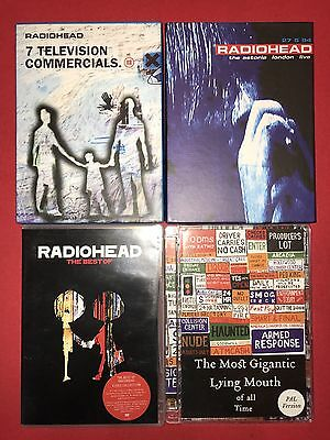 Radiohead DVDS - 7 Television Commercials , Live Astoria, Best Of Videos ,the Mo