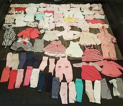 baby girls 0-3 months clothes bundle 93 items