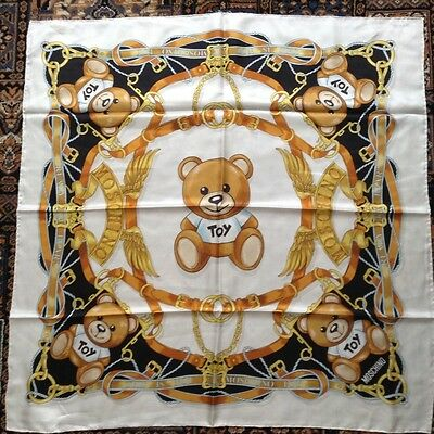 Moschino This Is Not a Toy large silk scarf BNWT