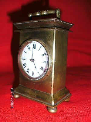 Rare Antique Georgian Verge Fusee Gilded Bronze Carriage/Mantel Clock Circa 1730