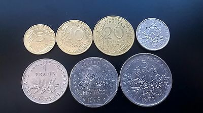 France lot of 7 coins (1959 - 2002)
