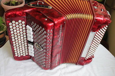 Paolo Soprani C-System  Accordion, 3 reeds, 96 Bass,  y. 1982 vintage, excellent
