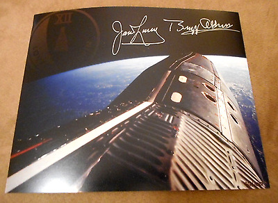 Gemini XII Jim Lovell Buzz Aldrin Signed Autographed 8x10 Photo Apollo NASA