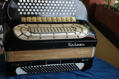 Hohner Riviera VI, 1974 vintage, Swiss-made, 4 reeds,120 Bass, for repairers