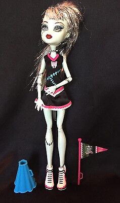 Mattel Monster High Doll Frankie Stein In Cheerleader Dress W/accessories