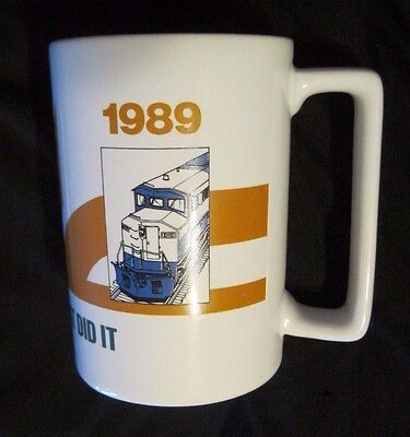 "GM ""The Diesel That Did It""1939-1989  Locomotive Ceramic Coffee Mug Railroad"