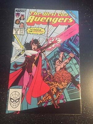 West Coast Avengers#43 Incredible Condition 9.2 Byrne Art(1989) Wow!!