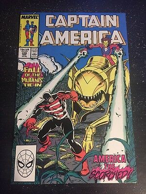 """Captain America#339 Incredible Condition 9.4""""Fall Of Mutants"""" Famine!(1988)"""
