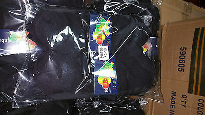 New Pack of 12 Pairs Lot Black Ankle Spandex Low Cut Socks Size 9-11 Men Women