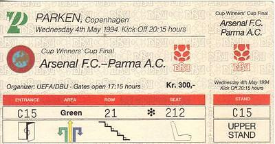 1994  European Cup Winners Cup Final   Arsenal   v   Parma   Complete  Perfect