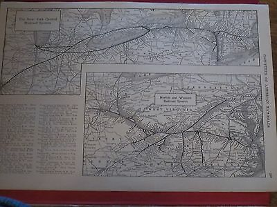 1920  RAILROAD MAP SALT LAKE, NEW YORK NEW HAVEN HARTFORD NORFOLK   Railway