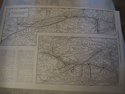 1919  RAILROAD MAP SALT LAKE, NEW YORK NEW HAVEN HARTFORD, NORFOLK   Railway