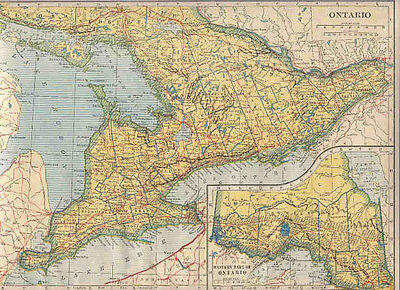 1921    Map  ONTARIO / QUEBEC   ONTARIO Dated **