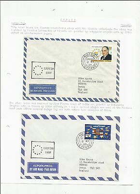 Cyprus 2004 Europe day h/s covers x 2 written up