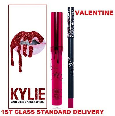 New Valentine   Long Lasting Matte Liquid Lipstick With Liner Lip Kit