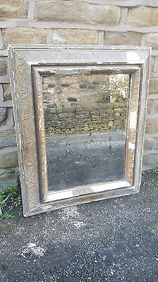 Large Huge Chunky Antique French Mirror Gilt Giltwood Wood Gold Gesso Golden