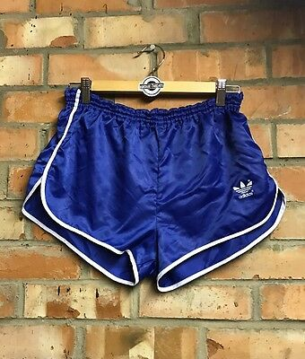 Vintage Blue & White Adidas Sprinter Shorts