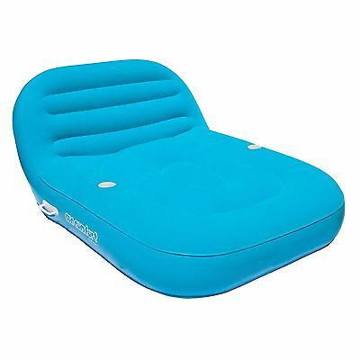 Comfort Pool Inflatable Raft Double Chair Swimming Lounge Floating Water Mattres