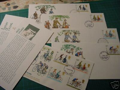 1978 CYCLING FDC BY FRITZ WEGNER covers by stamp designer 2 sets