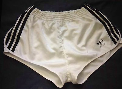 Vintage 1980s Adidas High Cut Shiny Nylon Sprinter Sports Shorts Size D3 XS