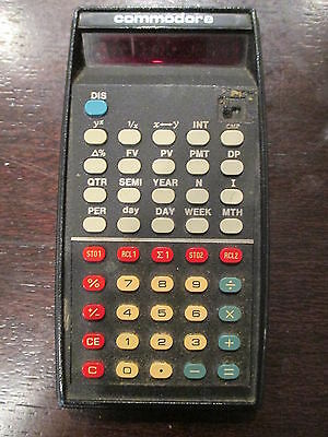 Vintage Commodore Model F4146R Financial Calculator Not Tested Original Case