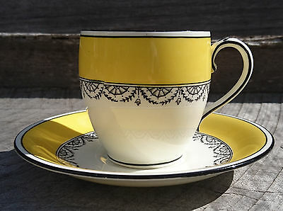 "Vintage English art deco Samuel Radford ""Radfordian"" china cup & saucer high tea"