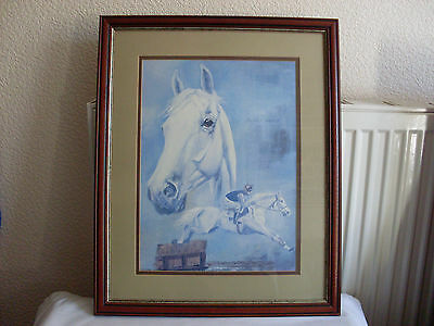 Desert Orchid by 'Wilkinson' Racehorse Print Picture Horse