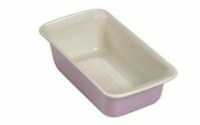 The Great British Bake Off Ceramic Coated Cream/Light Pink 2LB Loaf Pan