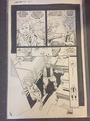 John Byrne Original Comic Art Next Men JBNM #16 Pg. 11