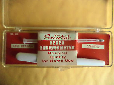 Vintage Chase Mach 47 Oral Thermometer, in Original Case + Faichney Thermometer