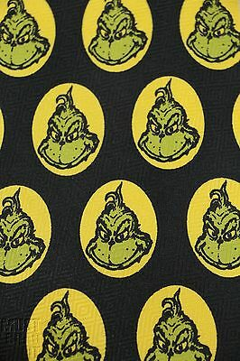 Dr Seuss Grinch stole Christmas black Mens NeckTie TV classic For nostalgic fans