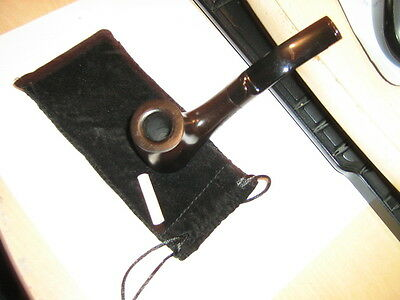 Nice New Black Ebony 9Mm Tobacco Smoking Pipe With Pouch