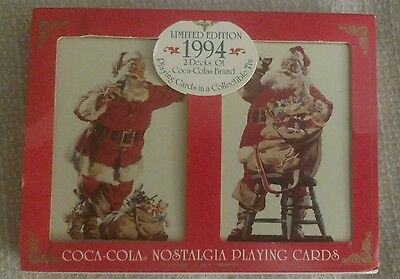 1994 limited edition coca cola nostalgia playing cards