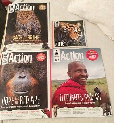 Worldwide Fund For Nature - 3 Action Magazines Plus Calendar