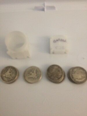 ROLL OF (20) BARBER HALF DOLLARS 50c $10 FACE VALUE 90% SILVER