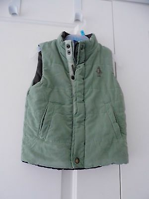 Pumpkin Patch Baby Boy Puffa  Vest Jacket Top Size 2