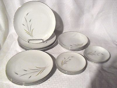 17 pc Heritage Prestige China Golden Grain Japan. Replacement pieces