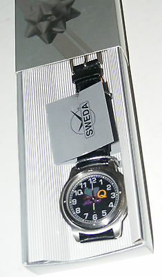 QUAKER STATE RACING MOTOR OIL WRIST WATCH VTG 1970s SWEDA W/BOX