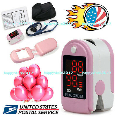 CMS50DL Fingertip Blood Oxygen Meter SPO2 Pulse Heart Rate Monitor Oximeter FDA